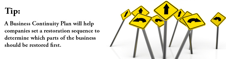 Determine which parts of the business should be restored first.